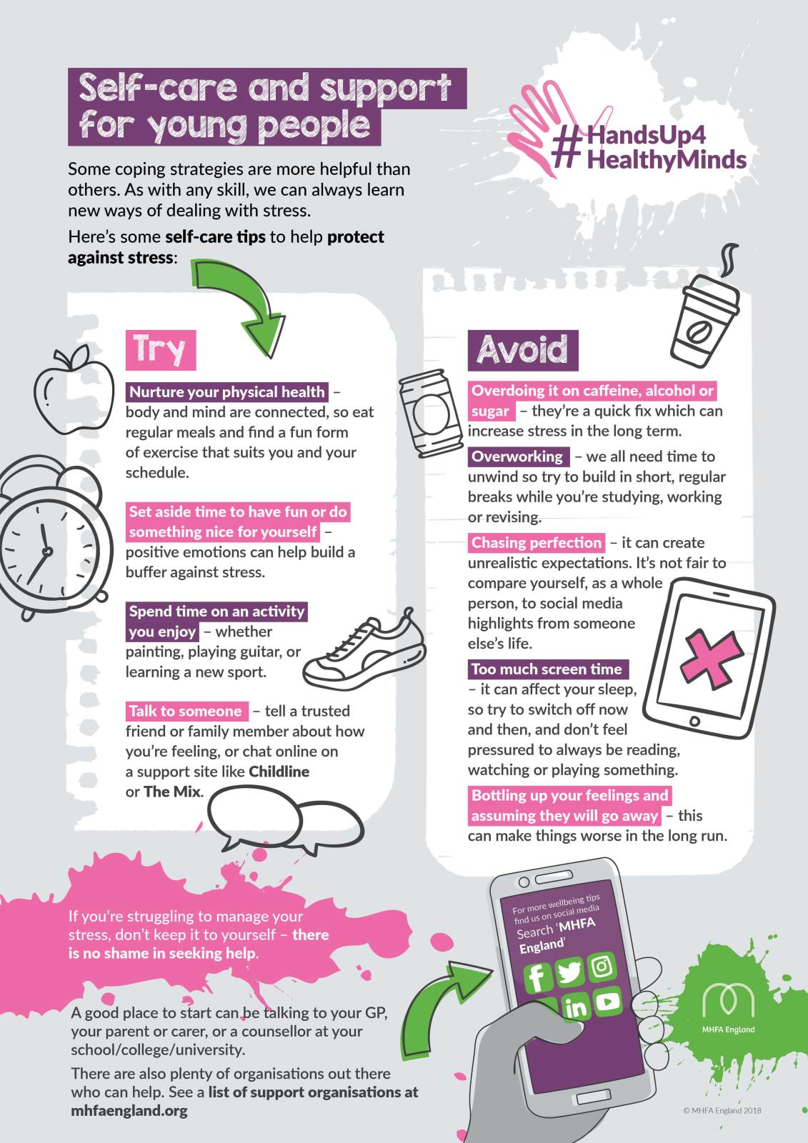 Poster of self-Care and Support Tips